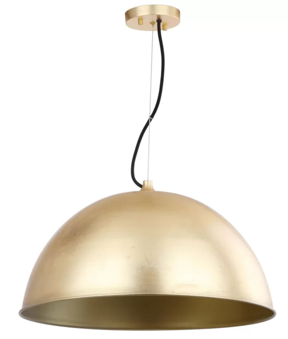Brass pendant light