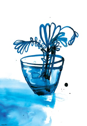 BLUE VASE BY PAULA MILLS