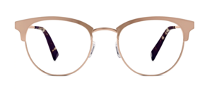 Warby Parker Rose Gold glasses