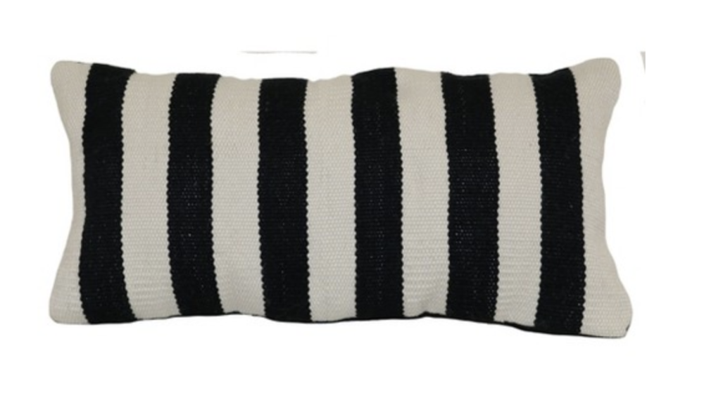 Target Outdoor Throw Pillow Lumbar - Woven Bold Stripe Black - Project 62™