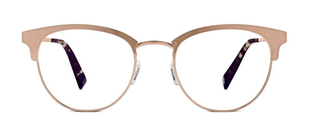 Warby Parker Rose Gold Frames