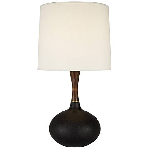 Lamps Plus Pops Deluxe Cast Iron Ceramic Table Lamp with Ivory Shade