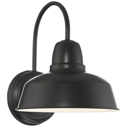 "Lamps Plus Urban Barn Collection 13"" High Black Outdoor Wall Light"