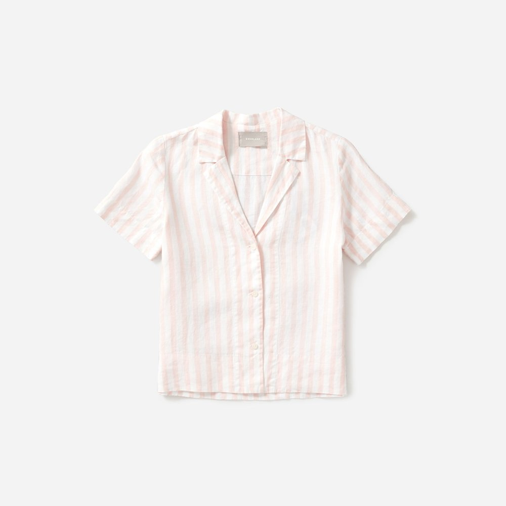 Everlane THE LINEN NOTCH SHORT-SLEEVE SHIRT