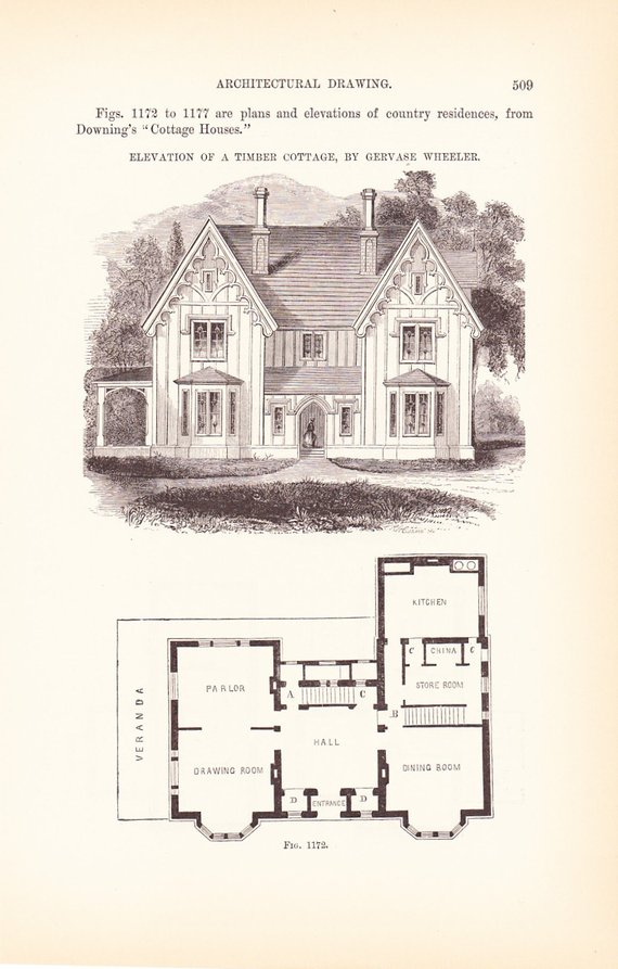 Vintage House Plans and Blueprints
