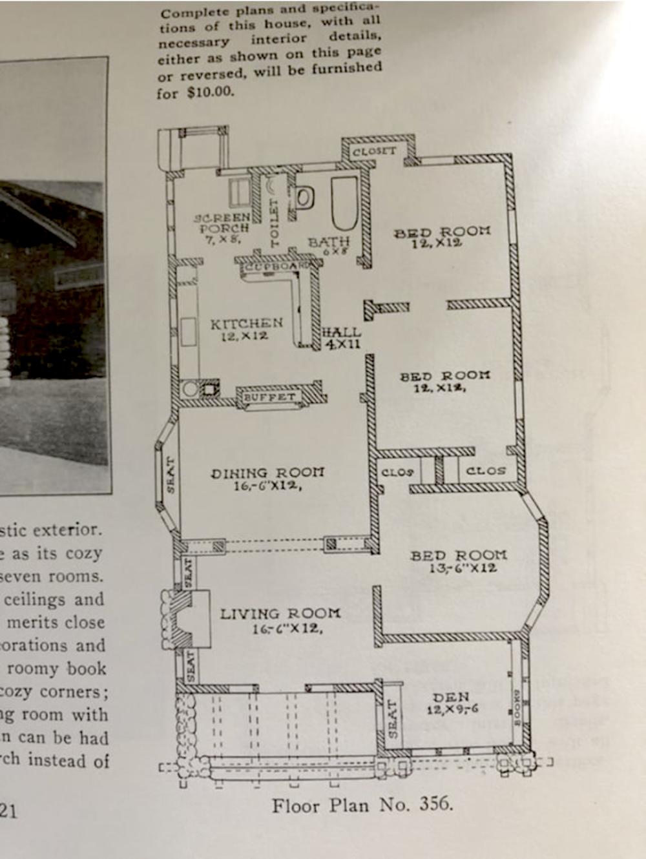 Vintage Bungalow Floor Plan