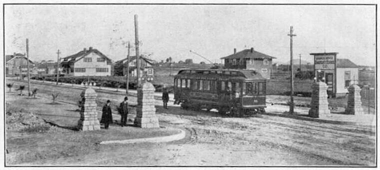 View looking north east with trolley. My house would be visible if it were constructed by now.