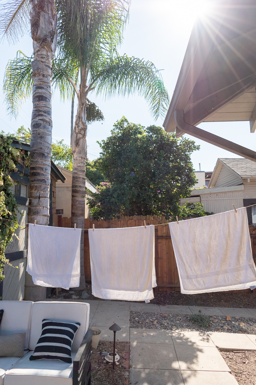 Line Drying Clothes - How To and the easiest trick- zero waste - The Gold Hive.jpg