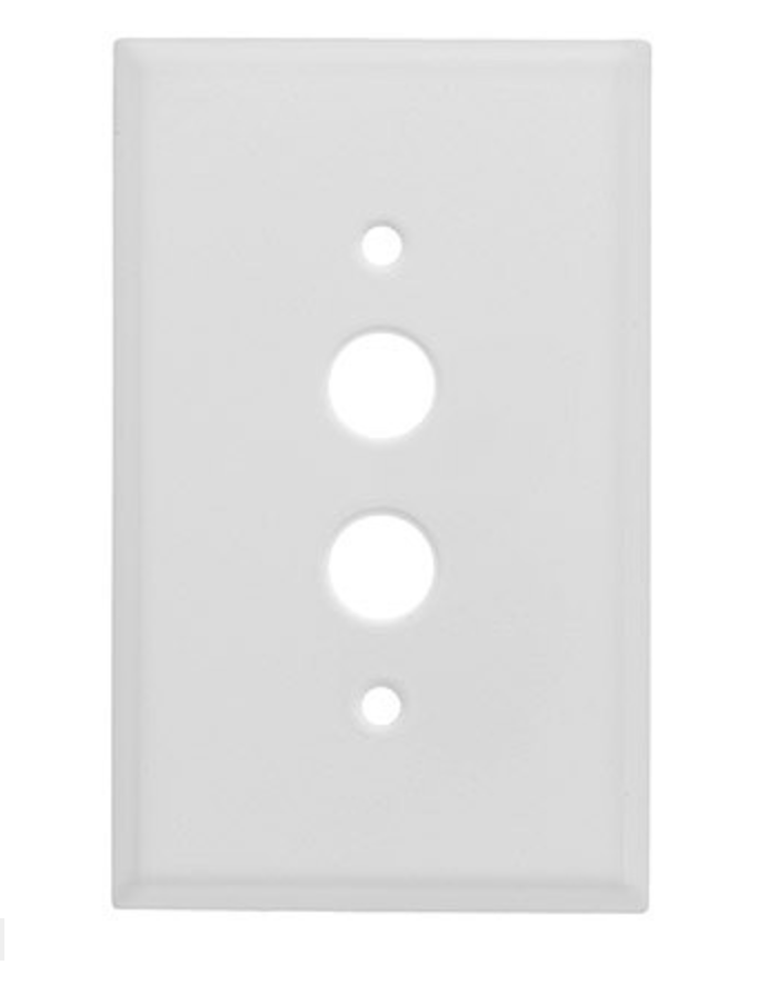 Classic Push Button Switch Plate In Pressed Brass or Steel