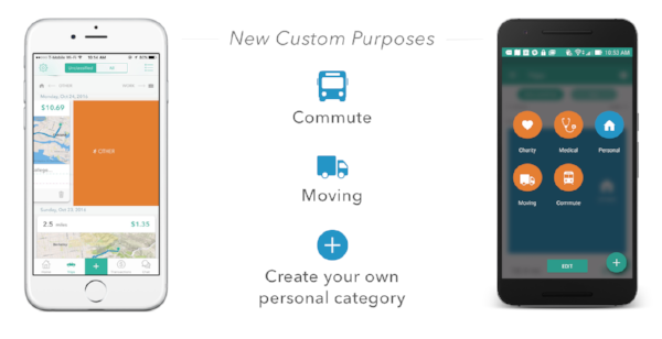 Everlance custom purposes