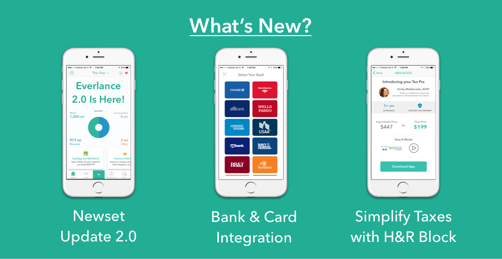 Everlance - bank and credit card integration