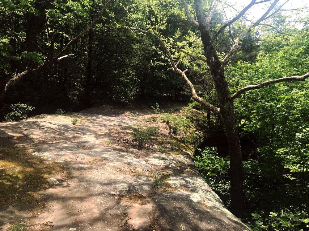 The path across the natural bridge.