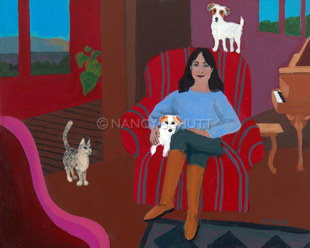 Your dog, you and your dog , your cat and your home- you choose the subject to have a painting that uniquely reflects your tastes, values, and loves.