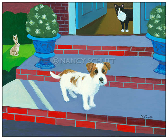 Original painting by Seattle dog artist.