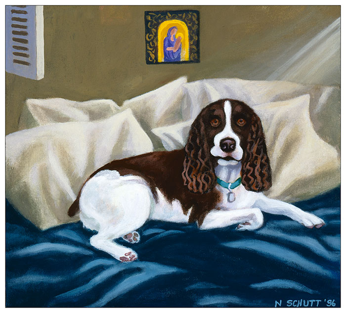 Original painting by Seattle dog artist Nancy Schutt