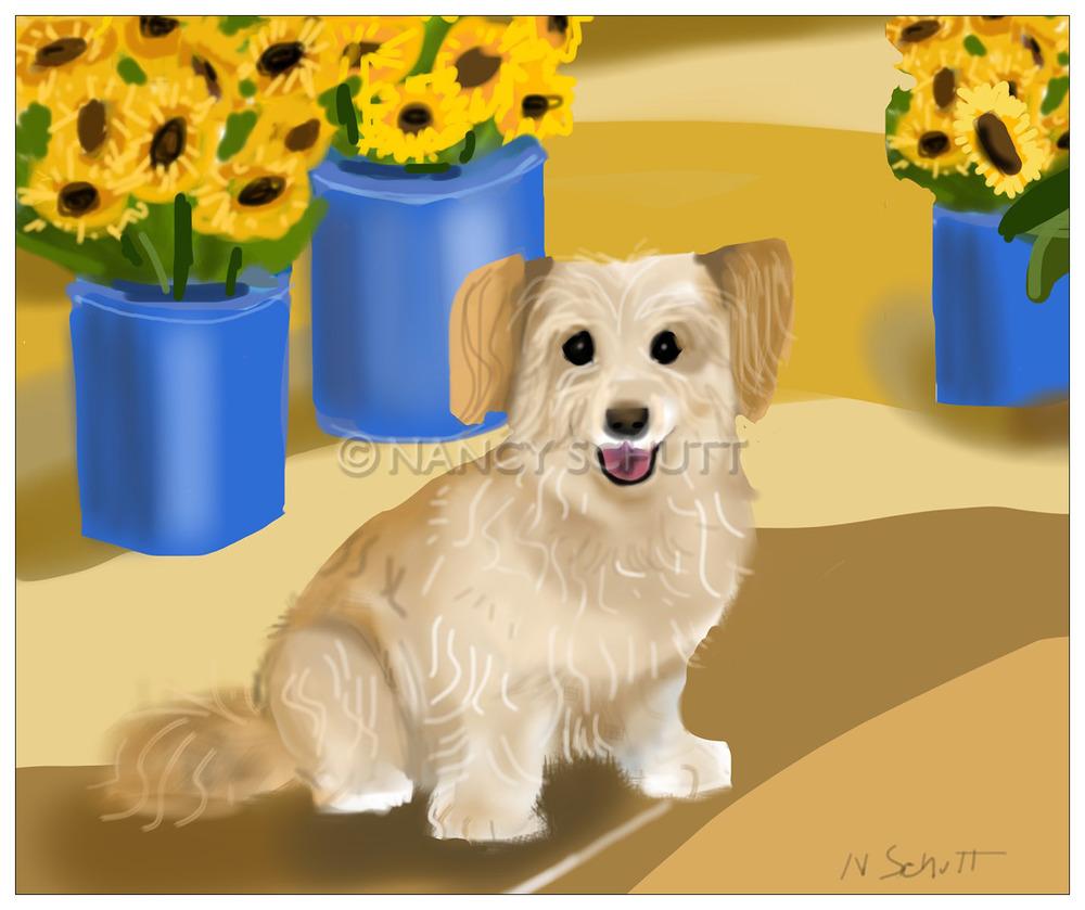 Digital paintings — DOG LOVER ART BY NANCY SCHUTT