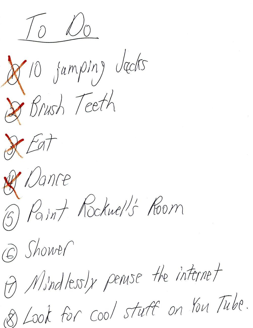 I love lists! -