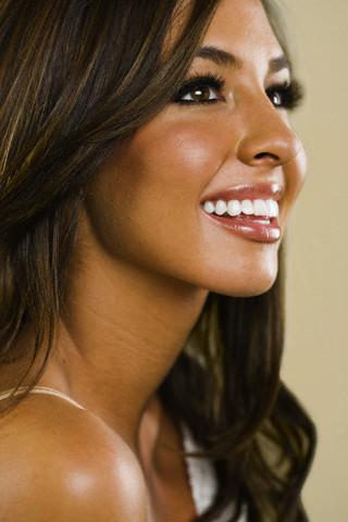 Bronze Wedding Makeup Tan Lashes White Teeth