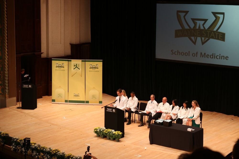 Paul Thomas MD White Coat Ceremony Detroit Wayne State University School of Medicine.JPG