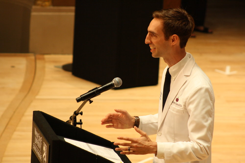 Speaking at the White Coat Ceremony in July 2017