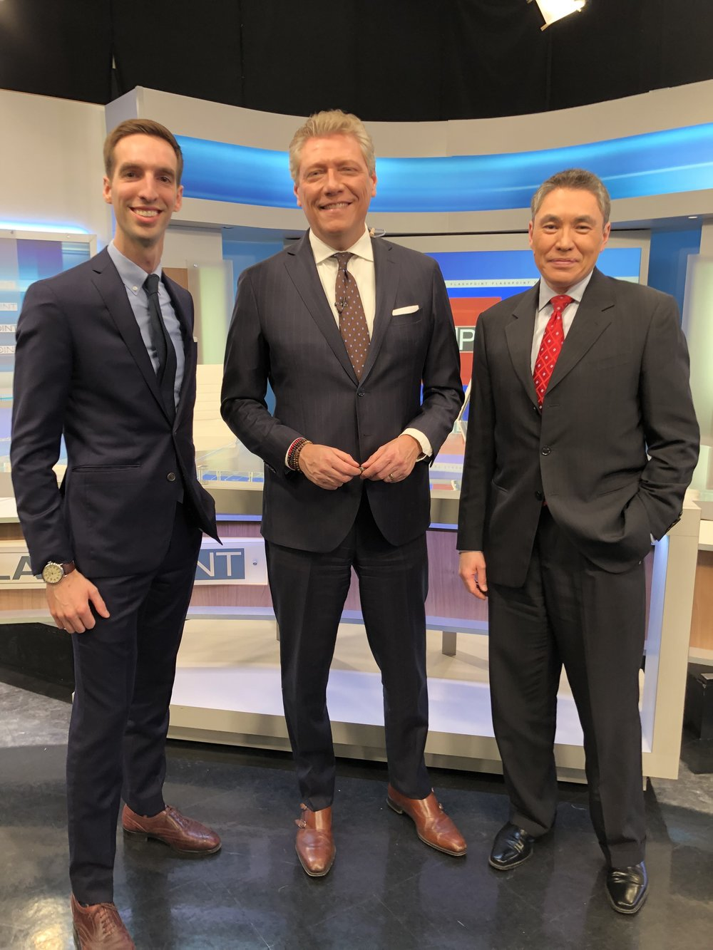 Paul Thomas, MD with Devin Scillian and Dr. Frank McGeorge of WDIV Detroit on the set of Flashpoint. The discussion on Flashpoint this week centered around Direct Primary Care, a new model for health care that aims to improve the quality of healthcare while decreasing overall costs.