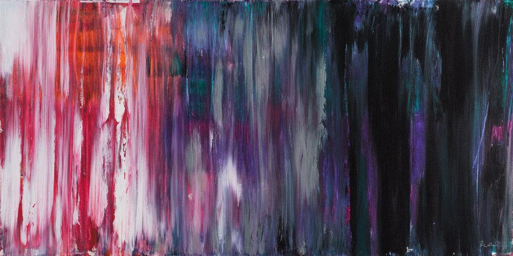 """18""""x 36"""", Acrylic on Canvas"""
