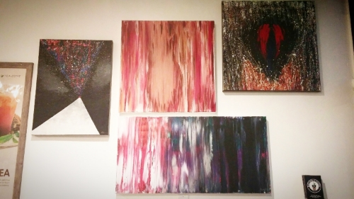 "Featured from top left to bottom center:  ""Just Focus"" ,  ""Body of Loss"" ,  ""Brain on Anxiety"" ,  ""Avoidance"""