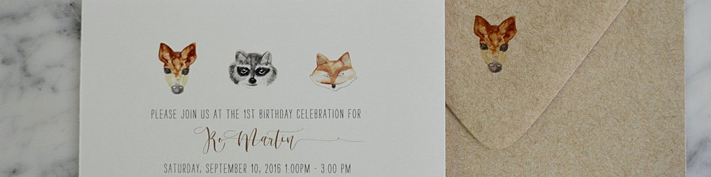 I found these amazing  invitations  from Pixie Chicago on Etsy.  The shop worked with me on customizing and gave me a proof in a day.  It was such an easy, simple process. I can't recommend Pixie Chicago enough.