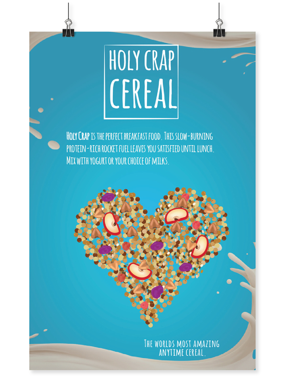 Holy Crap Cereal Poster