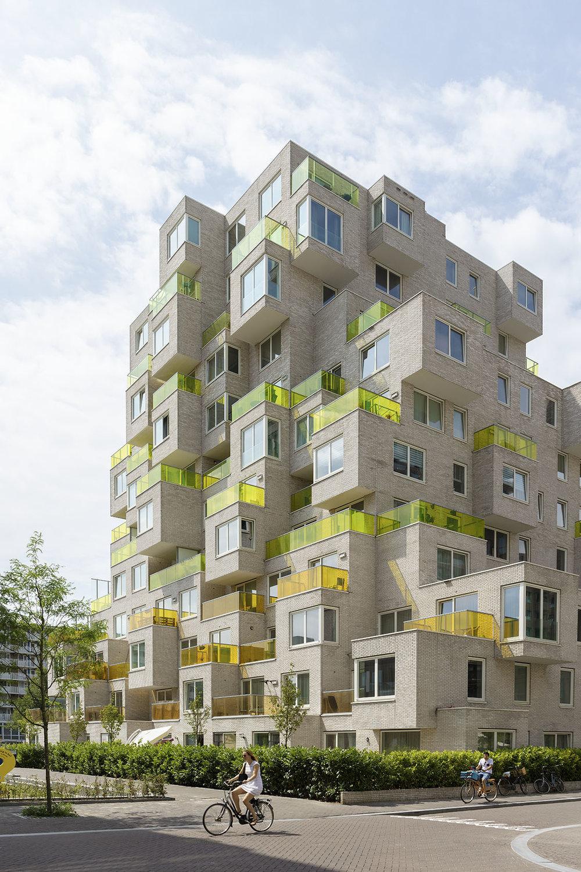 Summertime apartment blocks, Zuidas