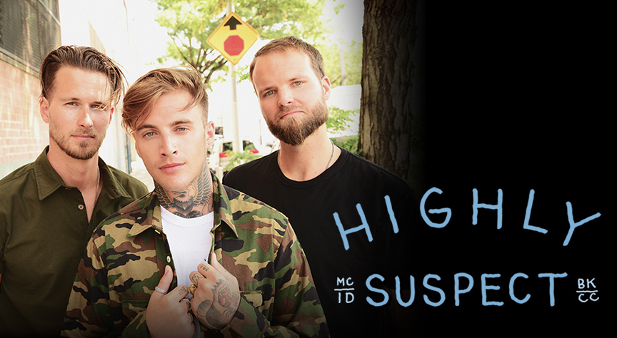 Highly Suspect: Ryan Meyer (Left), Johnny Stevens (Center), Rich Meyer (Right)