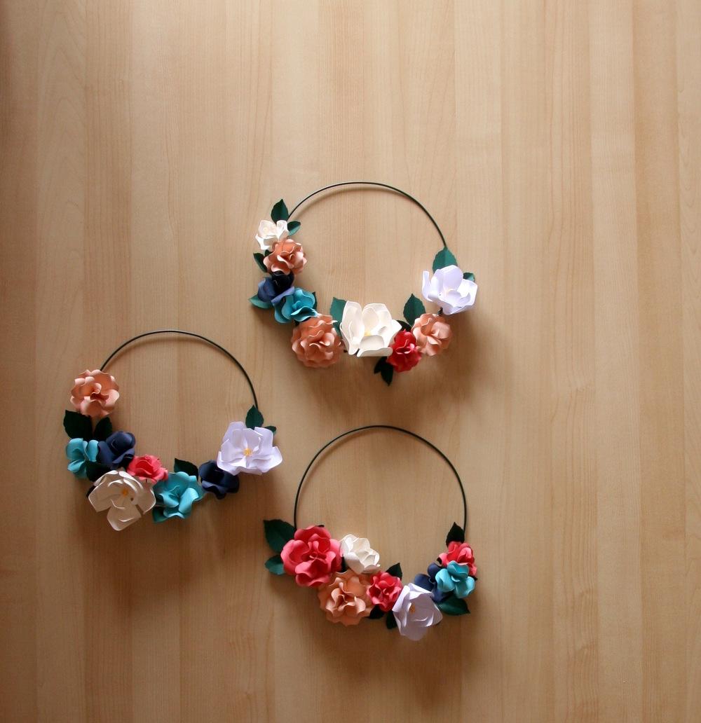 Paper Flower Hoops