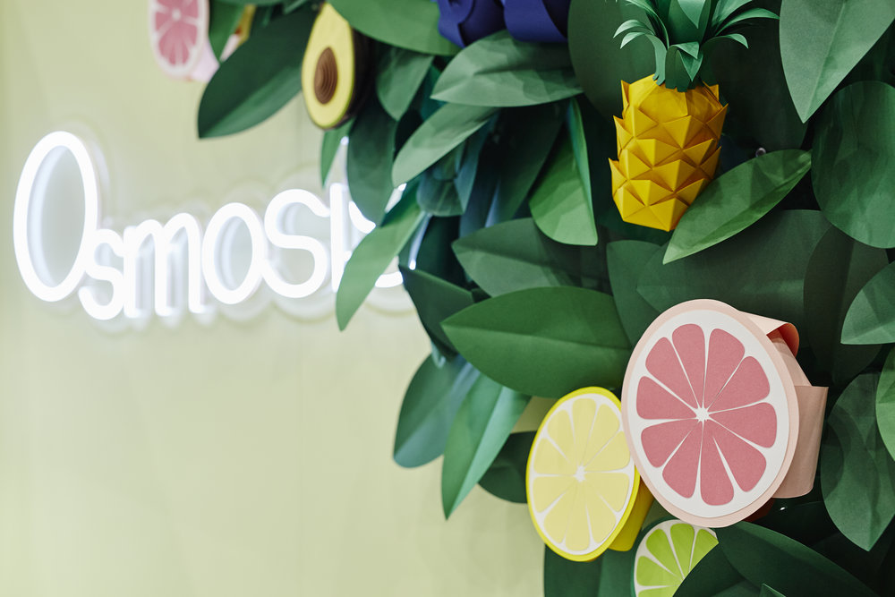 3D Paper Ingredients  Client: Osmosis Skincare  Project Management: Larger Than Life Agency