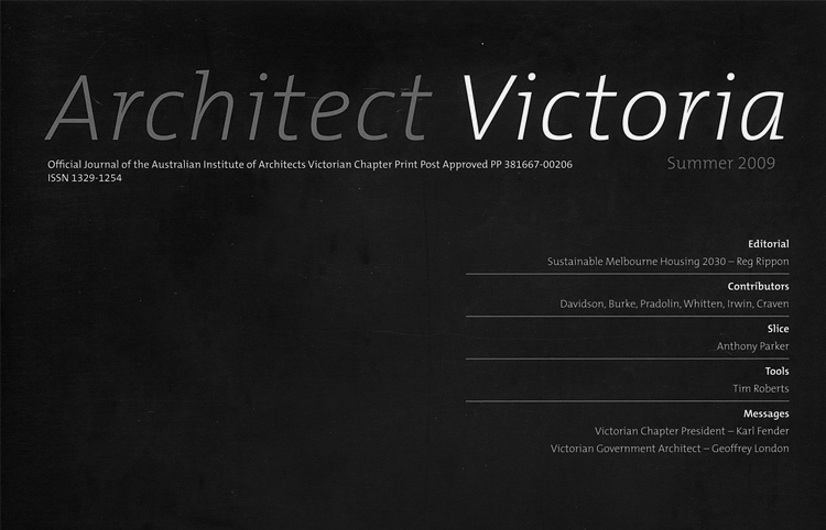 2009 Architect Victoria Summer Edition