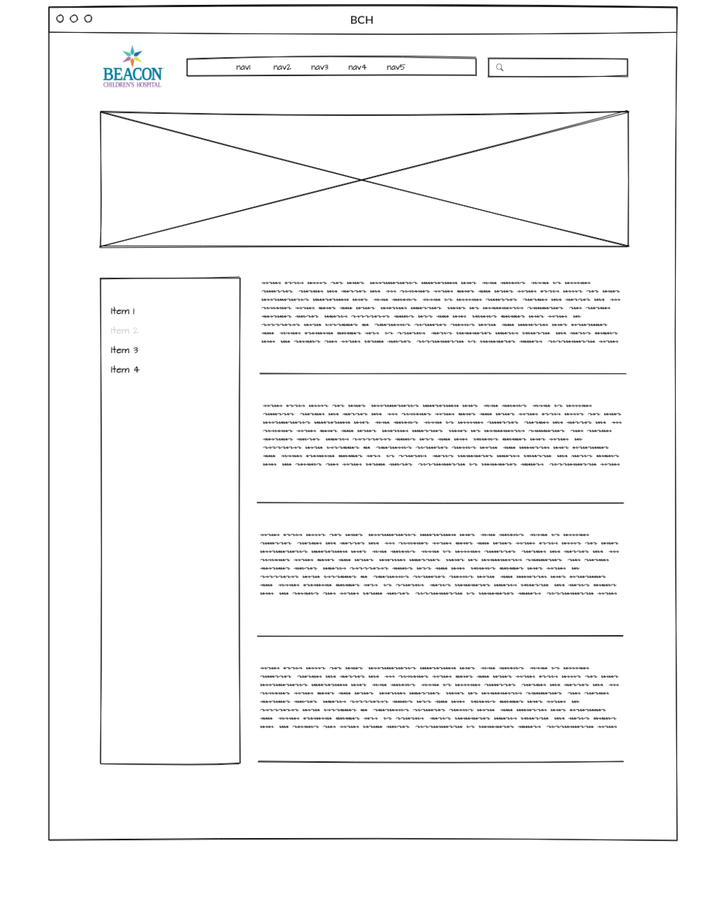 This mockup represents what the  Core Option  would give you for the secondary pages.
