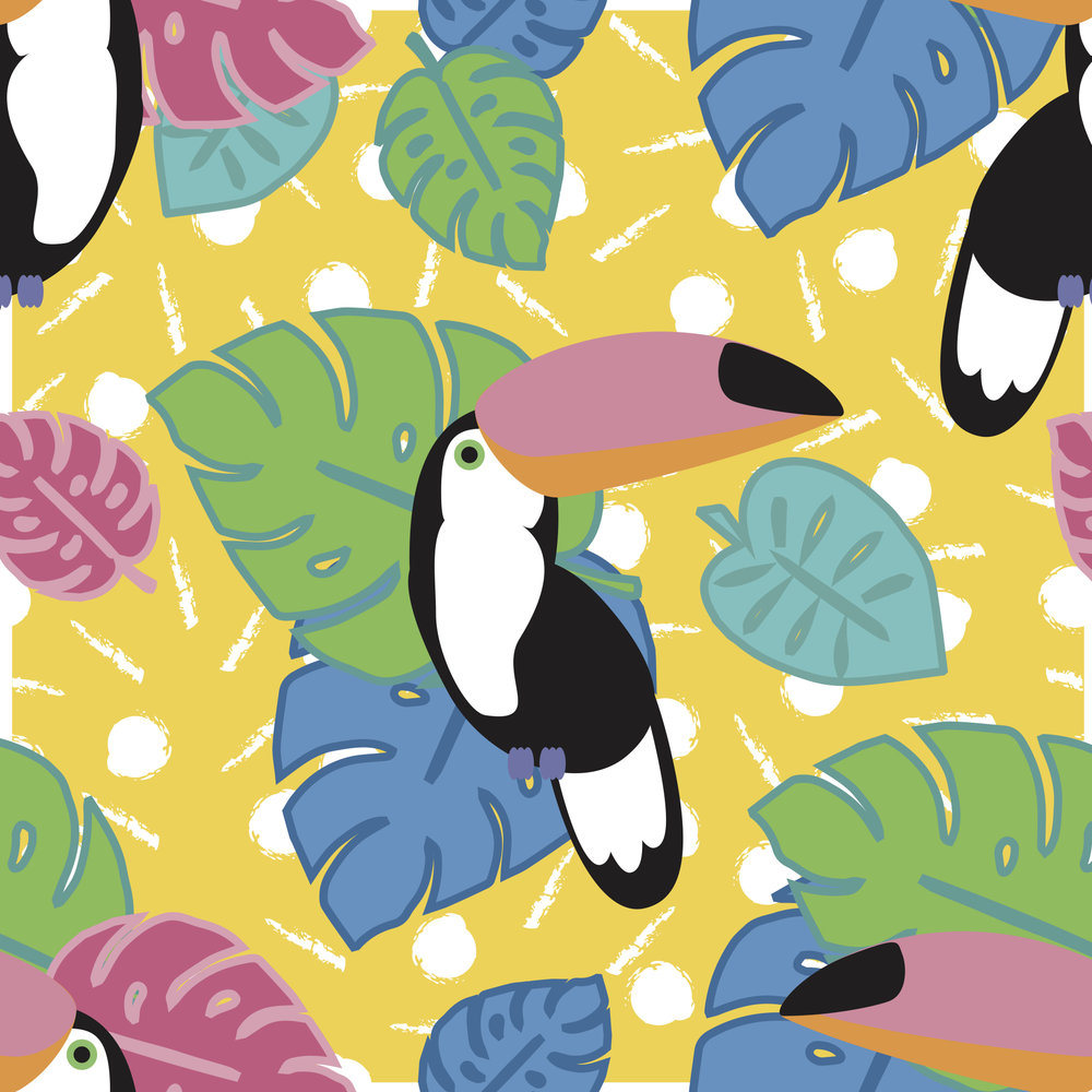 Toucan Print Designed for Bombshell Bay Swimwear for their Spring/Summer 2016-17 collection of swimwear.