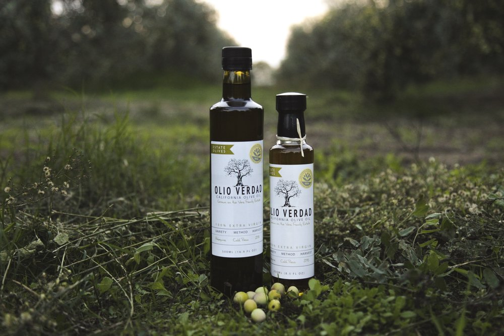 Extra Virgin Arbequina Olive Oil bottled in 500ml and 250ml.
