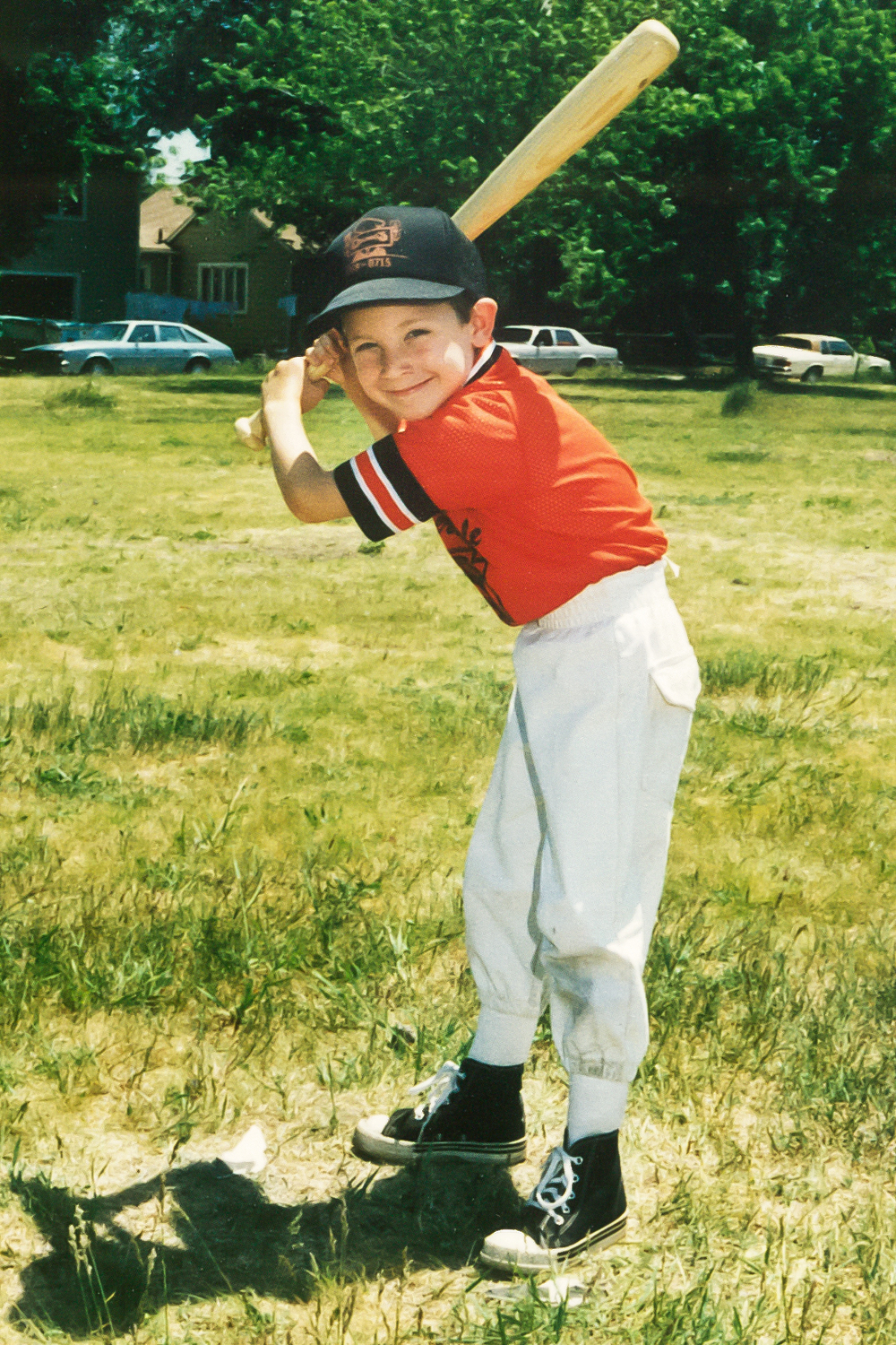 Even from an early age, I showed great enthusiasm for baseball. I was clearly destined to be in the major leagues; just look at my killer batting stance and intimidating game face...