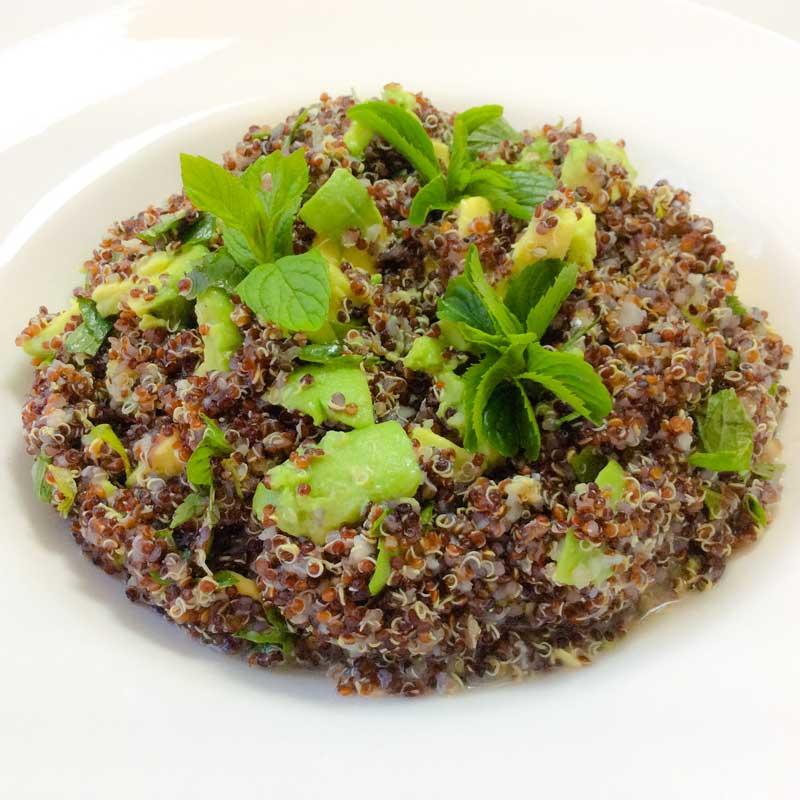 In my kitchen: simple summer quinoa.