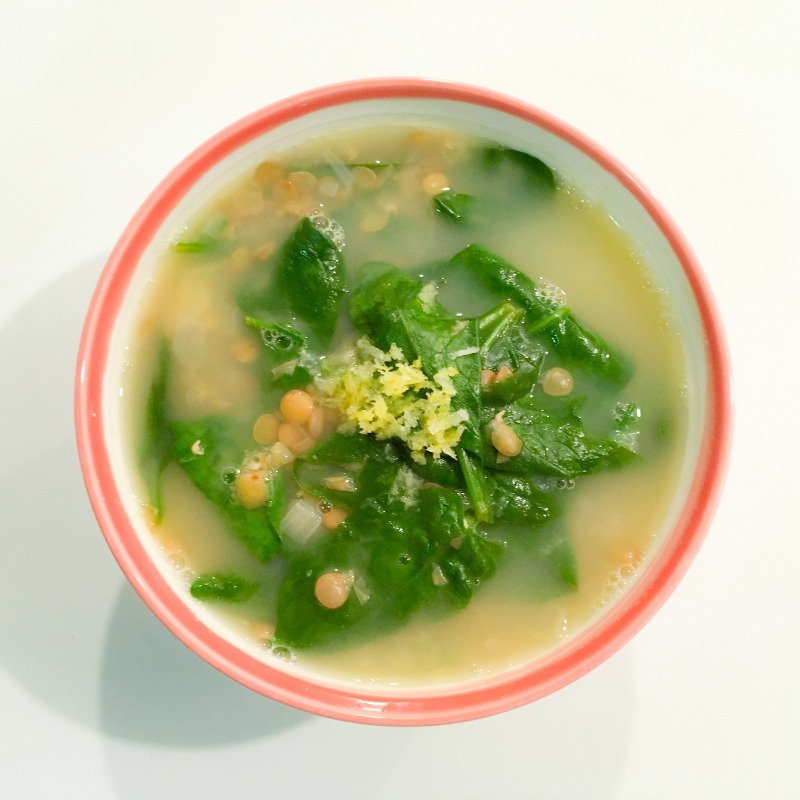 In my kitchen: lemony lentil soup!
