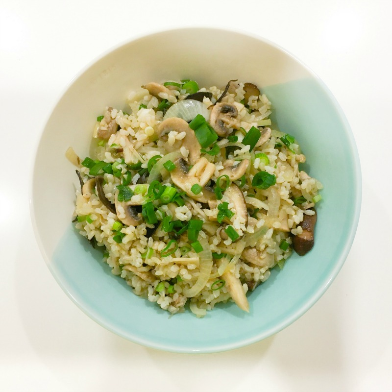 Mushroom Pilaf. Eat-with-your-eyes-closed deliciousness with a health-nerd twist.
