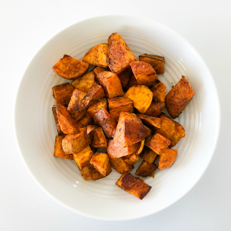 Spiced sweet potato