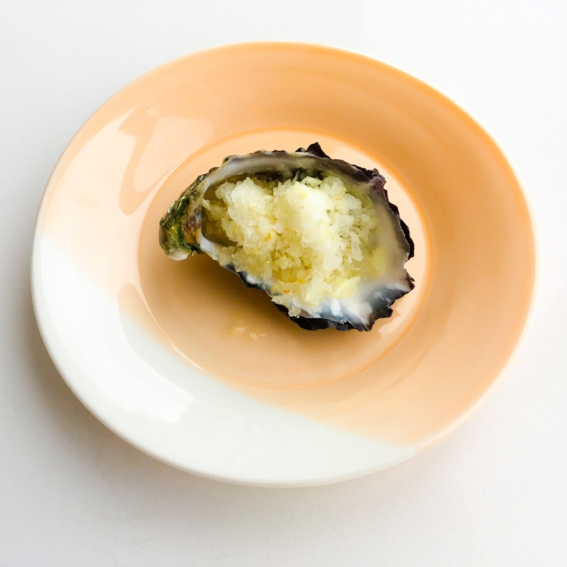 Oysters with Tangy Lemon Sorbet