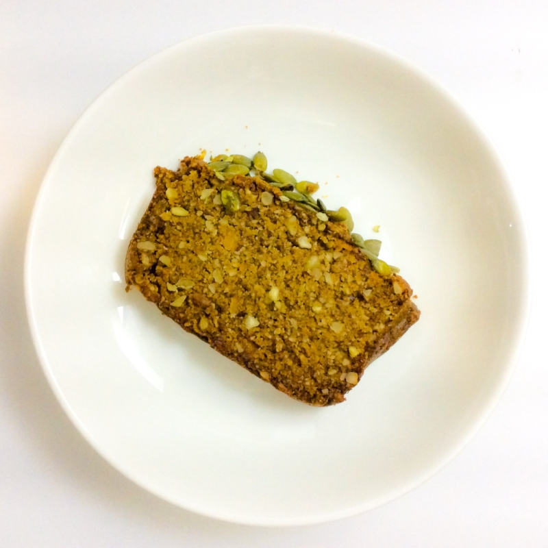 Healthy home-made pumpkin bread