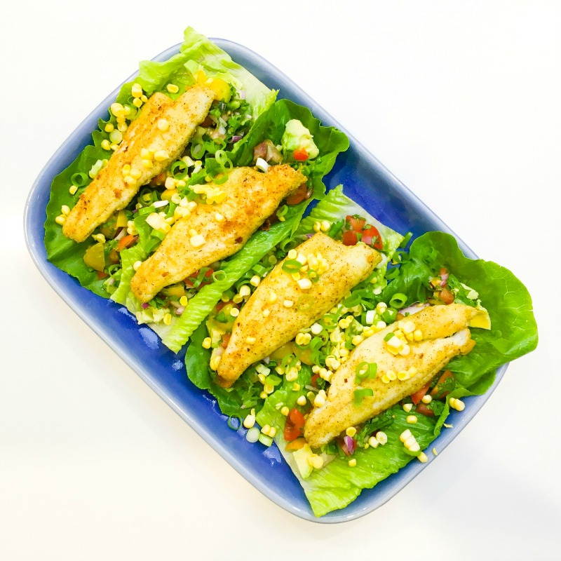 Fish Taco Lettuce Wraps