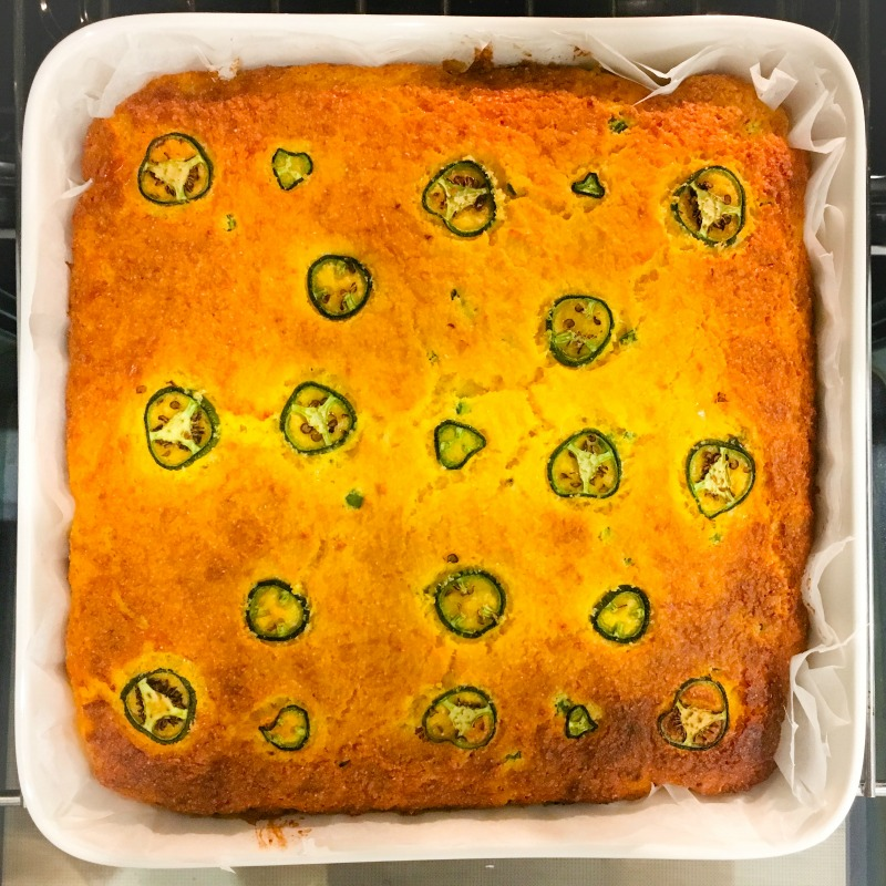 Cheesy Cornbread with Jalapenos and Dun-Dried Tomatoes