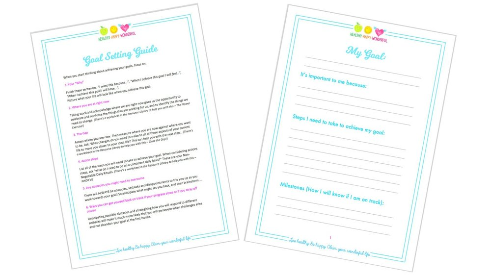 Join My Mailing List to receive your FREE Goal Setting Guide and Worksheet (plus lots of other helpful resources!!)