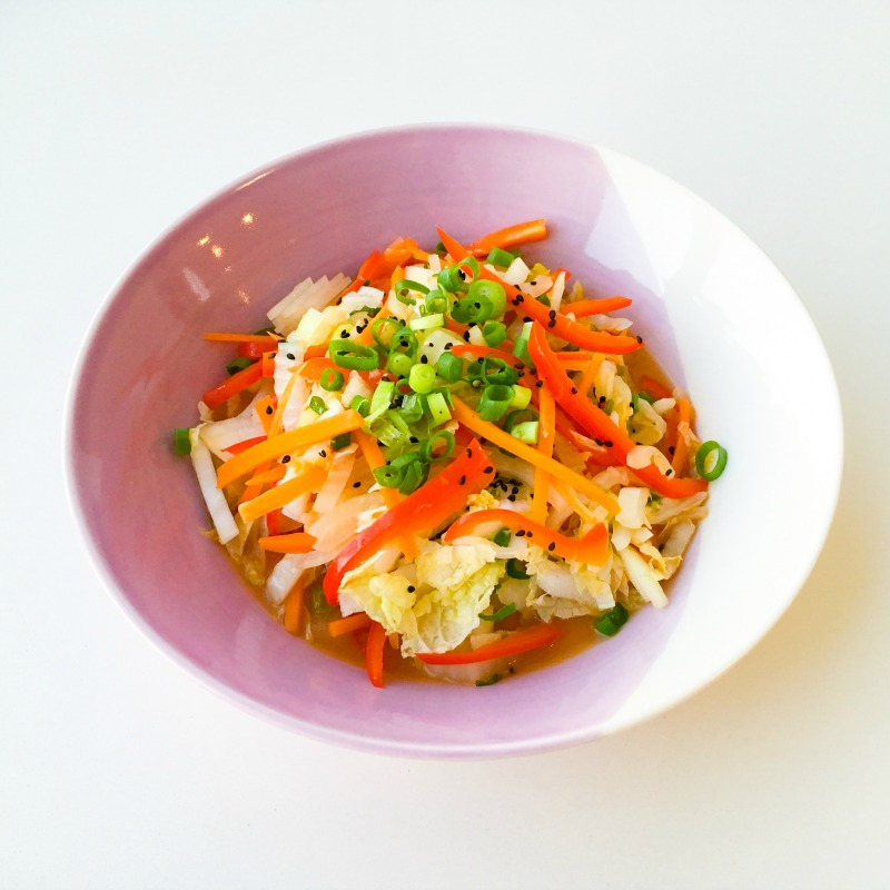 Chinese Veggie Stir Fry with Miso, Lime Chilli & Garlic