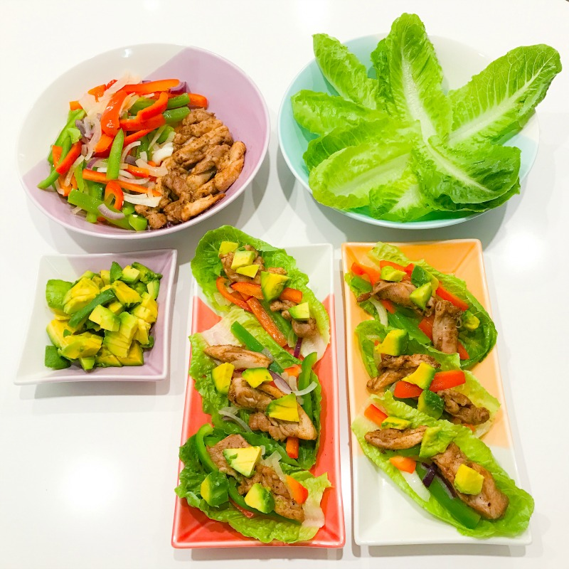 Chicken Fajita Lettuce Wraps