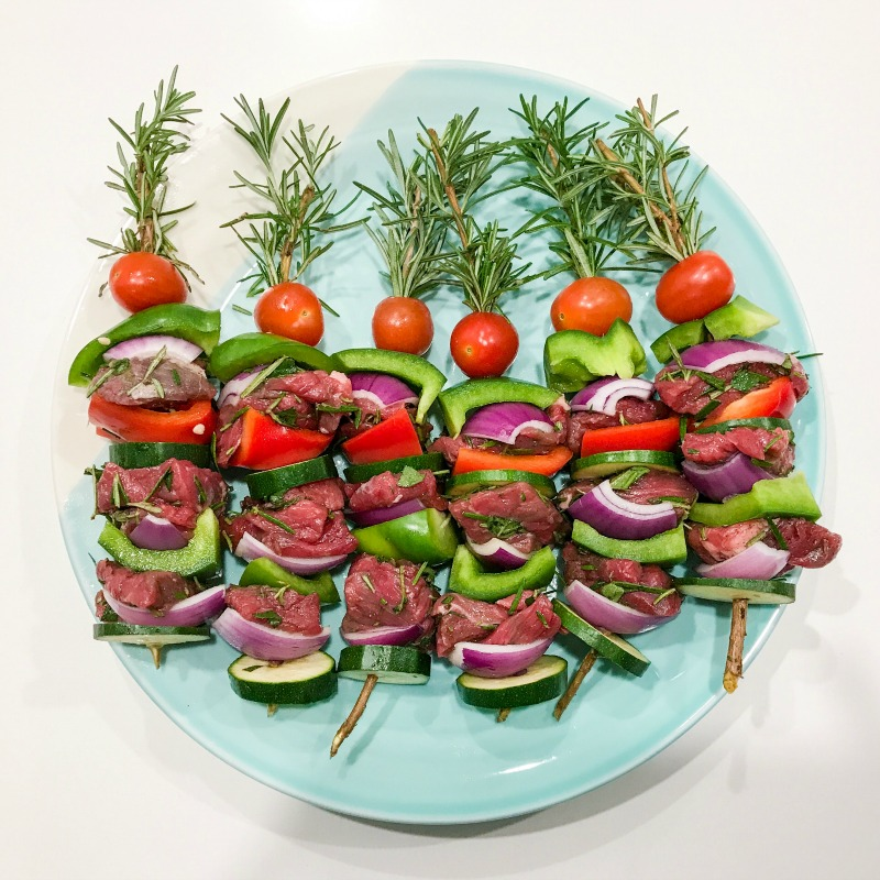 Lamb & Rosemary Veggie Skewers